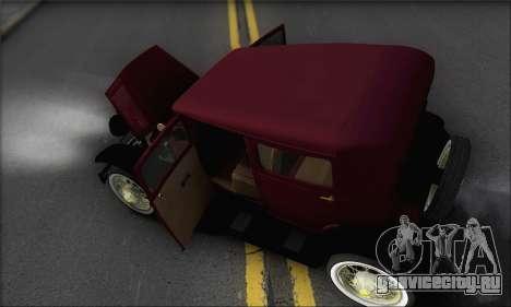 Ford A 1930 для GTA San Andreas вид сверху