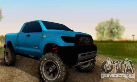 Toyota Tundra OFF Road Tuning Blue Star для GTA San Andreas вид сзади