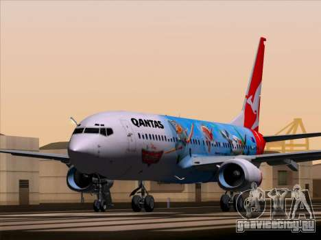 Boeing 737-800 Qantas для GTA San Andreas вид сзади слева