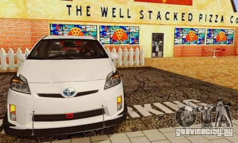 Toyota Prius Tunable для GTA San Andreas вид снизу
