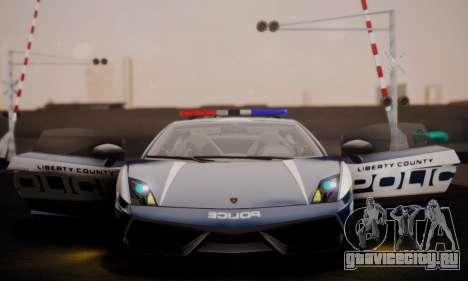 Lamborghini Gallardo LP 570-4 2011 Police v2 для GTA San Andreas вид снизу
