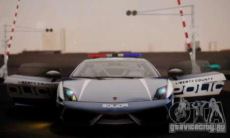 Lamborghini Gallardo LP 570-4 2011 Police v2 для GTA San Andreas вид сверху
