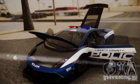 Lamborghini Gallardo LP 570-4 2011 Police v2 для GTA San Andreas колёса