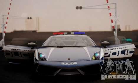 Lamborghini Gallardo LP 570-4 2011 Police v2 для GTA San Andreas вид сбоку