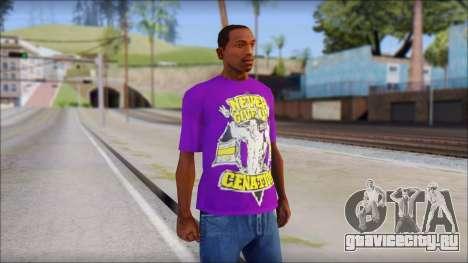 John Cena Purple T-Shirt для GTA San Andreas