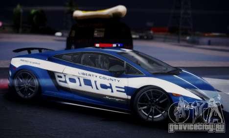 Lamborghini Gallardo LP 570-4 2011 Police v2 для GTA San Andreas вид справа