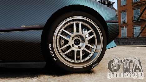 Pagani Zonda C12S Roadster 2001 v1.1 PJ3 для GTA 4 вид сзади