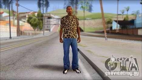 Tiger Skin T-Shirt Mod для GTA San Andreas третий скриншот