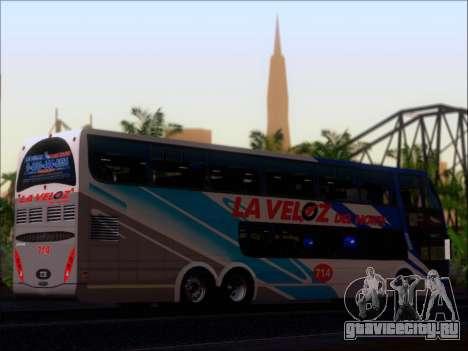 Metalsur Starbus DP 1 6x2 - La Veloz del Norte для GTA San Andreas вид изнутри