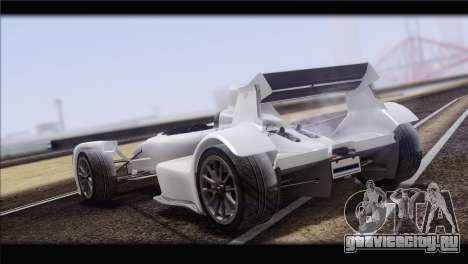 Caparo T1 2012 для GTA San Andreas вид сзади