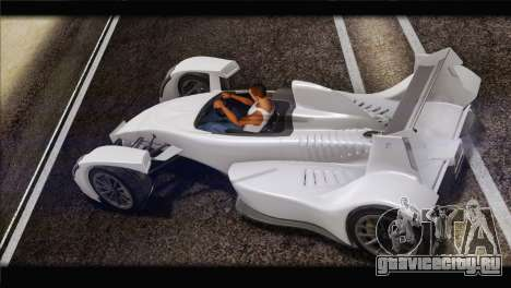 Caparo T1 2012 для GTA San Andreas вид слева