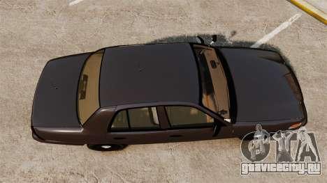 Ford Crown Victoria Sheriff [ELS] Unmarked для GTA 4 вид справа