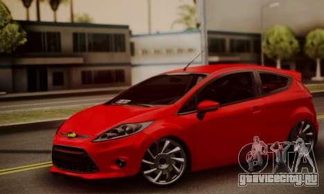 Ford Fiesta Turkey Drift Edition для GTA San Andreas вид сзади слева