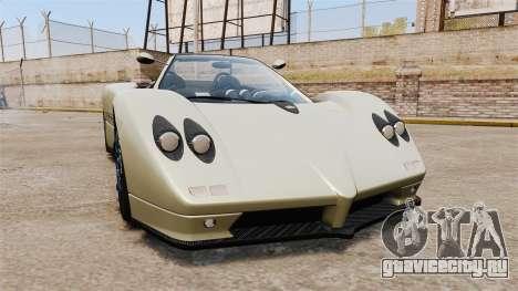 Pagani Zonda C12S Roadster 2001 v1.1 PJ1 для GTA 4