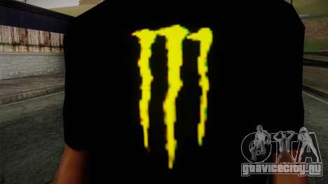 Monster Energy Shirt Black для GTA San Andreas третий скриншот