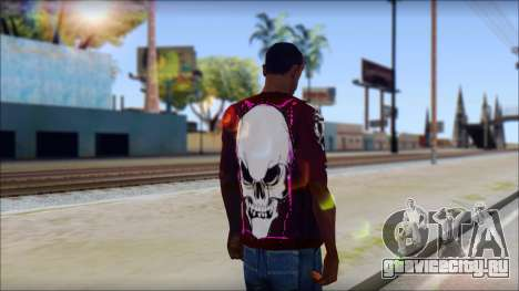 Skull T-Shirt для GTA San Andreas второй скриншот
