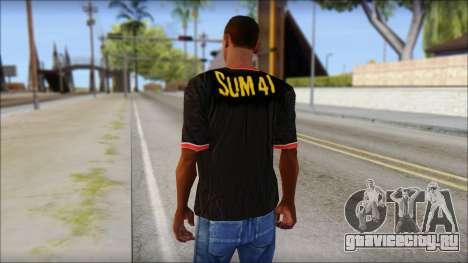 Sum 41 T-Shirt для GTA San Andreas второй скриншот