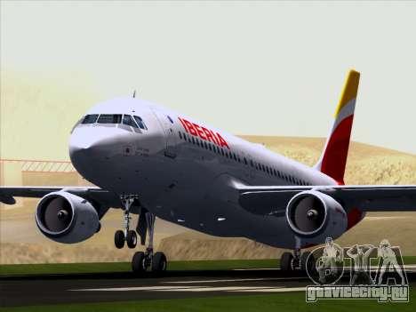 Airbus A320-214 Iberia для GTA San Andreas вид изнутри