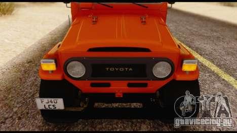 Toyota Land Cruiser (FJ40) 1978 для GTA San Andreas вид сзади