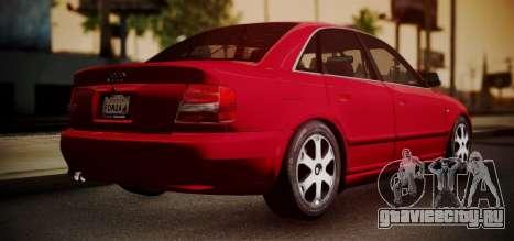 Audi S4 Stock 2000 для GTA San Andreas вид сзади слева