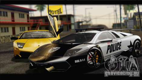 Lamborghini Murcielago LP670 SV Police для GTA San Andreas