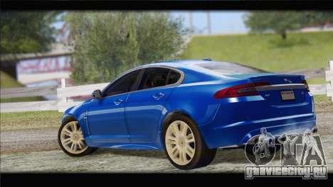Jaguar XFR v1.0 2011 для GTA San Andreas вид слева