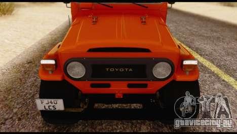 Toyota Land Cruiser (FJ40) 1978 для GTA San Andreas вид изнутри