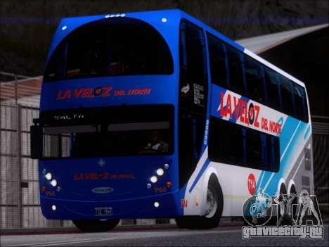 Metalsur Starbus DP 1 6x2 - La Veloz del Norte для GTA San Andreas вид слева
