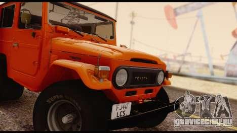 Toyota Land Cruiser (FJ40) 1978 для GTA San Andreas вид справа