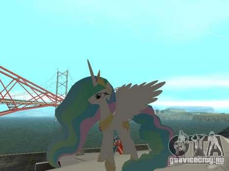 Princess Celestia для GTA San Andreas второй скриншот