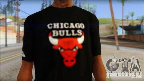 Chicago Bulls Black T-Shirt для GTA San Andreas третий скриншот