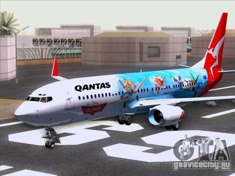 Boeing 737-800 Qantas для GTA San Andreas вид слева