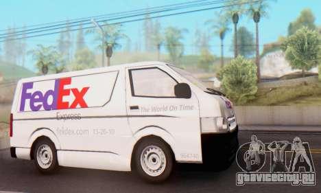 Toyota Hiace FedEx Cargo Van 2006 для GTA San Andreas