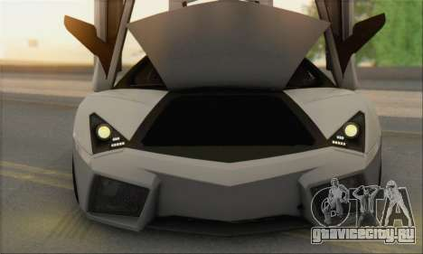 Lamborghini Reventon для GTA San Andreas вид изнутри