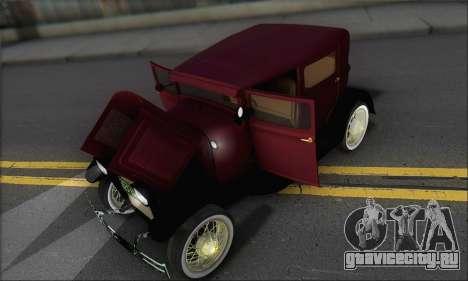 Ford A 1930 для GTA San Andreas вид сбоку