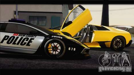 Lamborghini Murcielago LP670 SV Police для GTA San Andreas вид слева