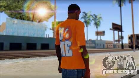 John Cena Orange T-Shirt для GTA San Andreas второй скриншот