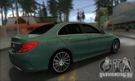 Mercedes-Benz C250 V1.0 2014 для GTA San Andreas вид сзади