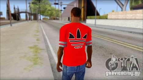 T-Shirt Adidas Red для GTA San Andreas второй скриншот