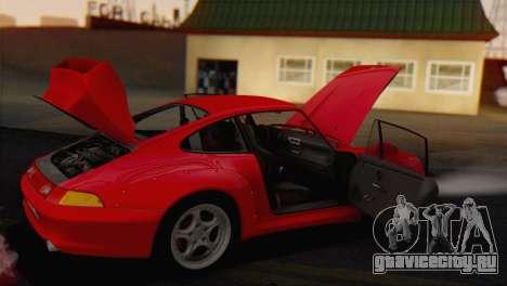 Porsche 911 GT2 (993) 1995 V1.0 EU Plate для GTA San Andreas вид сбоку