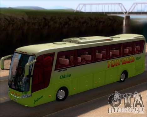 Busscar Vissta LO Scania K310 - Tur Bus для GTA San Andreas вид изнутри