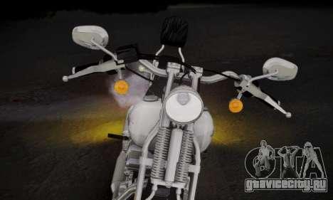 Harley-Davidson FXSTS Springer Softail для GTA San Andreas вид сзади слева