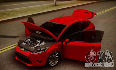 Ford Fiesta Turkey Drift Edition для GTA San Andreas вид сзади