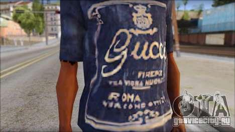 Gucci T-Shirt для GTA San Andreas третий скриншот