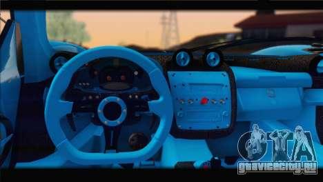 Pagani Zonda UNO для GTA San Andreas вид сбоку
