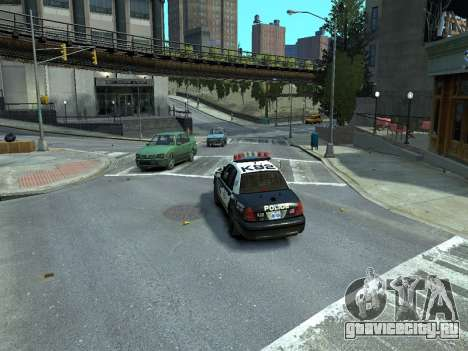 Ford Crown Victoria Police NYPD 2014 для GTA 4 вид сзади слева