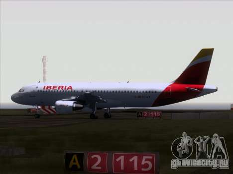 Airbus A320-214 Iberia для GTA San Andreas вид сзади