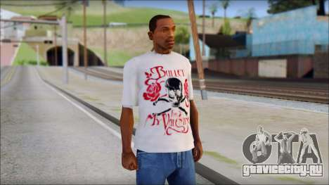 Bullet For My Valentine White Fan T-Shirt для GTA San Andreas