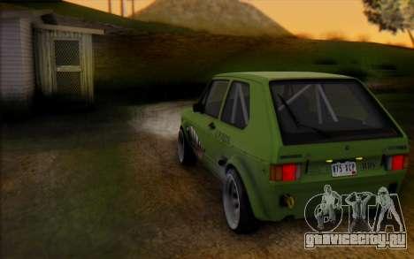 Volkswagen Golf Mk I для GTA San Andreas вид сзади слева