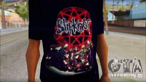 SlipKnoT T-Shirt v3 для GTA San Andreas третий скриншот